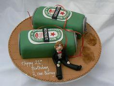 Heineken Cans Birthday Cake