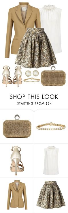 """""""Untitled #1313"""" by gallant81 ❤ liked on Polyvore featuring Badgley Mischka, Joseph, Lanvin, Leo and Anne Sisteron"""