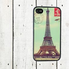 Eiffel Tower Postcard iPhone case - Cell Phone Case - iPhone 5 Case - iPhone 4,4s - Gifts Under 25. $16.00, via Etsy.