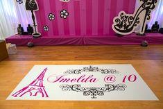 Floor print from a Paris 10th Birthday Party on Kara's Party Ideas   KarasPartyIdeas.com (26)