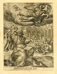 Prints made by Adriaen Collaert After Marten de Vos (1581) Mercury