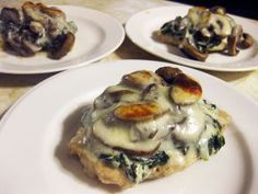 Spinach and Mushroom Smothered Chicken (Medifast Recipe and Gluten Free)