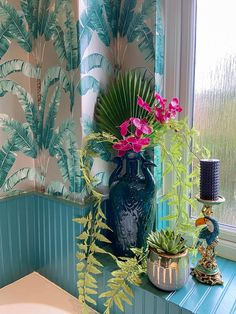 Bring the exotic to your floral arrangements with our artificial exotic fan palm stem. Perfect for adding drama to an existing display by adding 2 or 3 palm leaves, or create your own dramatic display. Pillar Candle Holders, Pillar Candles, Concrete Plant Pots, Tropical Bathroom, Artificial Orchids, Pink Tiles, Best Candles, Faux Plants, Gold Texture