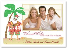 Christmas Photo Cards: Tropical Santa Digital Christmas Photo Cards from Announcingit.com - printed on Luster Photo Paper designed to produce the best photo quality - NOT on card stock!