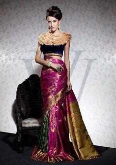 silk saree #saree #fashion #southasian more inspiration @ http://www.ModernRani.com