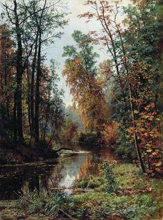 Golden autumn, 1888 by Ivan Shishkin. Realism. landscape