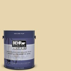 BEHR Premium Plus Ultra 1-Gal. No.UL180-11 Ceiling Tinted to Lemon Drop Interior Paint, Lemon Drop  #ul180-11