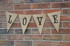 Love  ..  Love banner  ..  Photo prop  ..  Wedding   .. Decoration. $20.00, via Etsy.