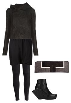 """""""Untitled #78"""" by skyllanyx on Polyvore featuring H&M, Rick Owens, women's clothing, women's fashion, women, female, woman, misses and juniors"""