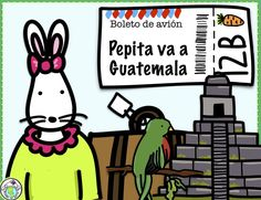 Introduce the culture of GUATEMALA to elementary Spanish class with our Theme Pack! Minibook, flag, map, and activity pages are included. Mundo de Pepita, Resources for Teaching Spanish to Children