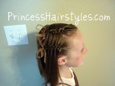 This site has great tips on simple braiding Ideas for little girls