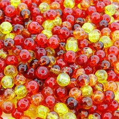 """Beads Direct USA's Mix Crackle Glass Round Beads 6mm """"Fire Mix"""" 200pcs Beads Direct USA http://www.amazon.com/dp/B00QMTD0TG/ref=cm_sw_r_pi_dp_DxHHub0CQ6EJD $4.75 FREE SHIPPING"""