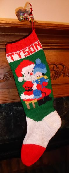 knitted christmas stocking pattern all i want for christmas boy