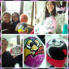 Art therapy workshop, group de eating disorder.Working emotions.  Rocio cancion - Peru.