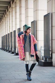 Kang So Young looking all interesting at Seoul Fashion Week #offduty