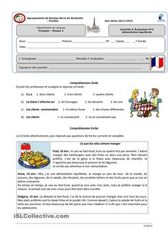 contrôle French Teaching Resources, Teaching Activities, Teaching French, French Language Lessons, French Language Learning, Foreign Language, French Practice, High School French, French Worksheets