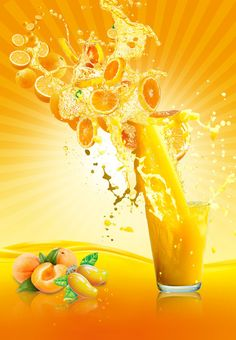 Take A Look At These Fantastic Juicing Tips – Fruity Freshy Juicy Juice Menu, Juice Ad, Amazing Food Photography, Yellow Photography, Peach Orange, Orange Juice, Spice Image, Fruit Splash, Brewery Design
