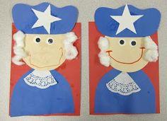 Cute George Washington craft for Presidents Day.