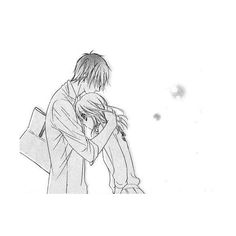 HUG We Heart It ❤ liked on Polyvore featuring anime, couples and filler