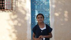 School girl in Sidi Hcine outside of Tunis, Tunisia.