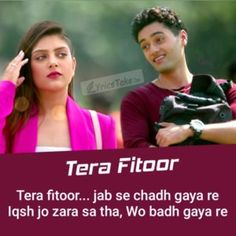 """Tera Fitoor Lyrics from Genius: Arijit Singh& new romantic song """"Tera Fitoor"""" is sung by him and has music by Himesh Reshammiya while New Romantic Songs, Romantic Song Lyrics, Beautiful Lyrics, Me Too Lyrics, Love Songs Lyrics, Romantic Love Quotes, Music Lyrics, Happy New Year Love Quotes, Love Song Quotes"""