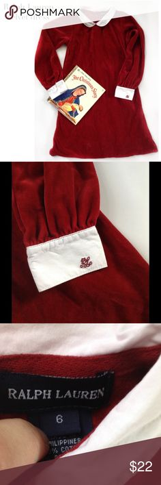 Red velvet Ralp Lauren l/s dress Sz 6 Buttons all down the back, perfect for photos for Christmas or Valentine's Day Ralph Lauren Dresses Formal