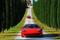 Driving in Tuscany is the most pleasurable experience, regardless of the car you are driving in. But driving in a Ferrari takes driving to a whole different level #Ferrari #Tuscany #Maremma