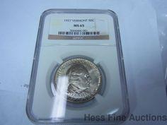 1927 Commemorative Vermont 50 Cents Half Dollar MS 65 Coin