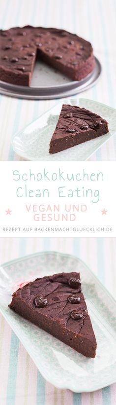 Dieser Schokokuchen kommt tatsächlich ohne Mehl, Butter, Eier, Milch und Industriezucker aus und ist somit nicht nur vegan und gesund sondern auch gut für Allergiker geeignet. Ein tolles Clean Eating / Clean Baking Rezept!