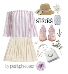 """""""Embellished Shoes #3"""" by pearlypinkroses ❤ liked on Polyvore featuring Dolce&Gabbana, Fresh, Mulberry, Sans Souci, Eugenia Kim, Cara and Loren Stewart"""