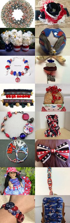 Patriotic Red, White and Blue Collection by Kay Dasu on Etsy--Pinned with TreasuryPin.com