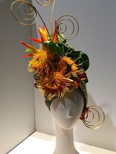 philadelphia flower show 2015 all flower hat...fabulous