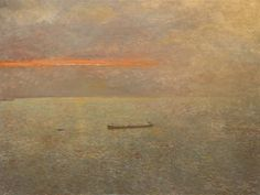 Richard Eurich (British, 1903-1992), Early Morning, 1984. Oil on board, 92.7 x 122.4 cm.