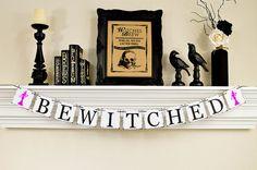 Halloween Banner, Bewitched Banner, Happy Halloween Banner, Witch Banner, Halloween Witch, Bewitched Halloween Banner