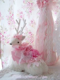 Beautiful Shabby reindeer purchased from Olivia's Romantic Home Etsy