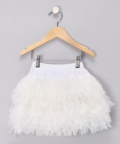 Ivory Shag Skirt, $13.99 from #zulily for #fall. Tres?