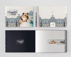 Wedding Album Cover, Album Design, Photo Book, Layout Design, Album Covers, Project Ideas, Projects, Polaroid Film, Spreads