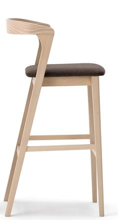 Luna Barstool — Jarrett Furniture – Supplying to individual hospitality projects… - wood chair Wooden Stool Designs, Wood Chair Design, Wooden Bar Stools, Wood Stool, Modern Chair Design, Modern Wood Chair, Modern Furniture, Furniture Design, Designer Bar Stools