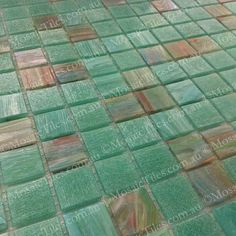 MosaicTiles.com.au - Malibu Green GM 20.35, SM 20 Glass Mosaic Tiles, Mosaic Art, Ibiza, Green, House, Beautiful, Home Decor, Decoration Home, Home