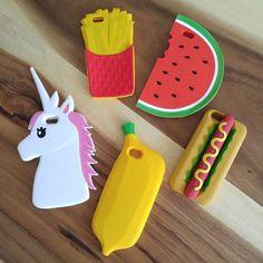 Banana, unicorn, hotdog frenchfries & watermelon