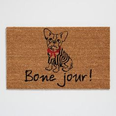 One of my favorite discoveries at WorldMarket.com: Bone Jour Coir Doormat