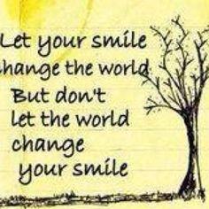 Siempre es necesaria una sonrisa sincera y cálida !