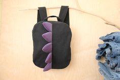 Black purple dragon backpack , dragon bag , unisex denim backpack , jeans toddler backpack , animal backpack , denim bag , children backpack by SecondBirthday on Etsy