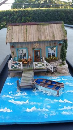 Quarter scale water scene