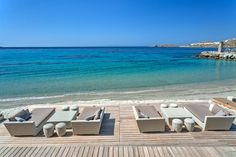 Welcome to your private paradise. Outdoor Sofa, Outdoor Furniture, Outdoor Decor, Marina Resort, Mykonos Hotels, Days Like This, Resort Villa, Hotels And Resorts, Sun Lounger