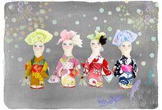 @wjri.k.ladies さんの ..浴衣DEMODEE.. ...今年は線香花火を持っています ..7月5日発売予定....#demodee #yukata#浴衣#kyoto#summer #summerfashion #vacation
