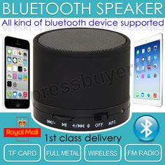 Wireless Mini Portable Bluetooth Speaker Rechargeable for ipad iphone Mp3 Mic UK