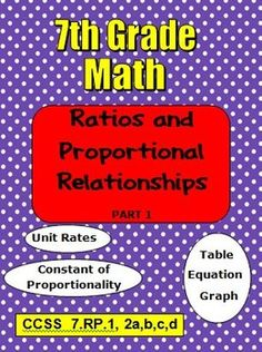 This resource will save you time as notes and examples are ready to be copied! Students will stay engaged as they fill in missing parts of examples and notes on ratios and proportional relationships. Independent practice is included.  CCSS 7.RP.1.2abcd