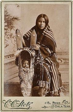 Kiowa Mother and Child. America - American History - Women's Rights - Child Labor - The Great Depression - Civil Rights - Native Americans - Slavery - American Indians.