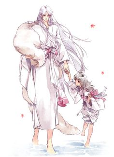 "Sesshomaru and Rin from ""Inuyasha"""